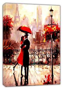 Diplomatique Couple De Paris Danse Huile Douleur Re Imprimé Sur Encadrée Toile Wall Art Home Decor-afficher Le Titre D'origine Et D'Avoir Une Longue Vie.