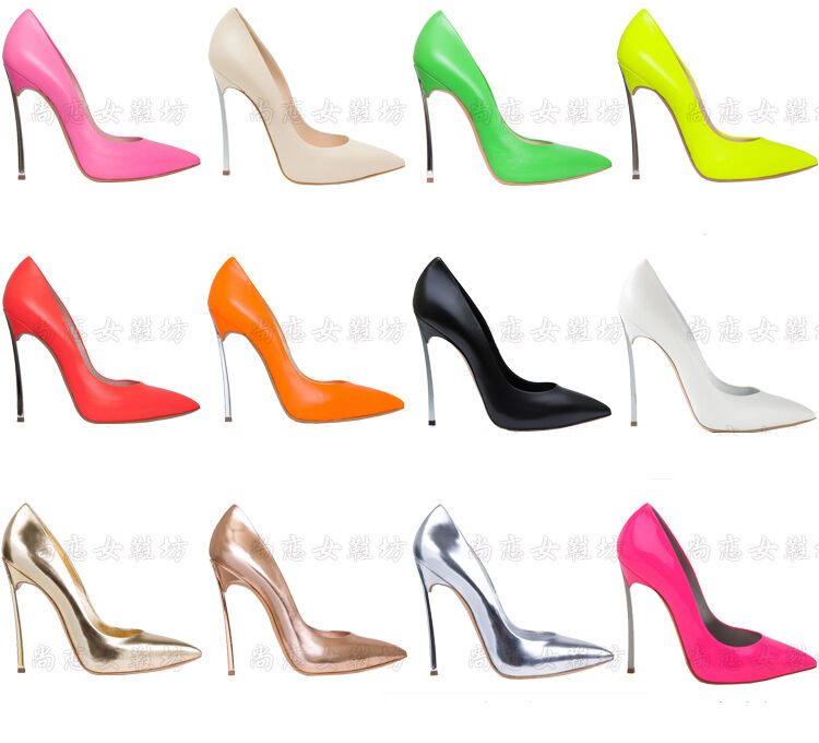 Celebrity Multi Colors Pointed Toe Party High Heels Womens Dress Stiletto Shoes