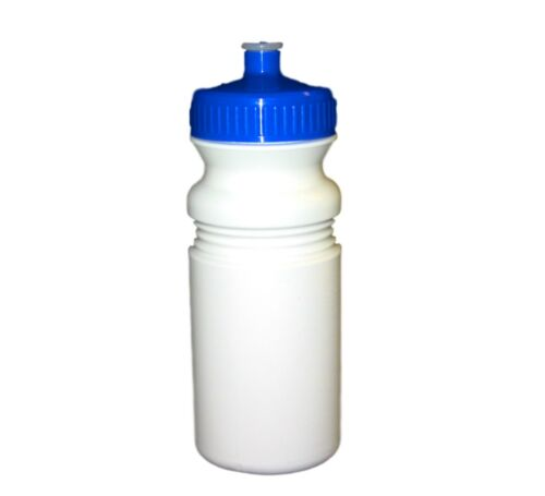 2 Blue Caps Sports Water Bottles Holds 20 Ounce Made USA Recyclable Lead Free*