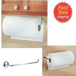 Kitchen Paper Towel Roll Holder Wall Mount Under Cabinet Rod ...