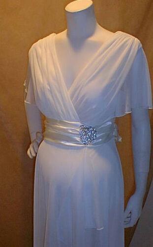 New Cocktail Vneck Baby Maternity Sleeves Bridal Ivory Xl Dress Chiffon Wedding rqBFr