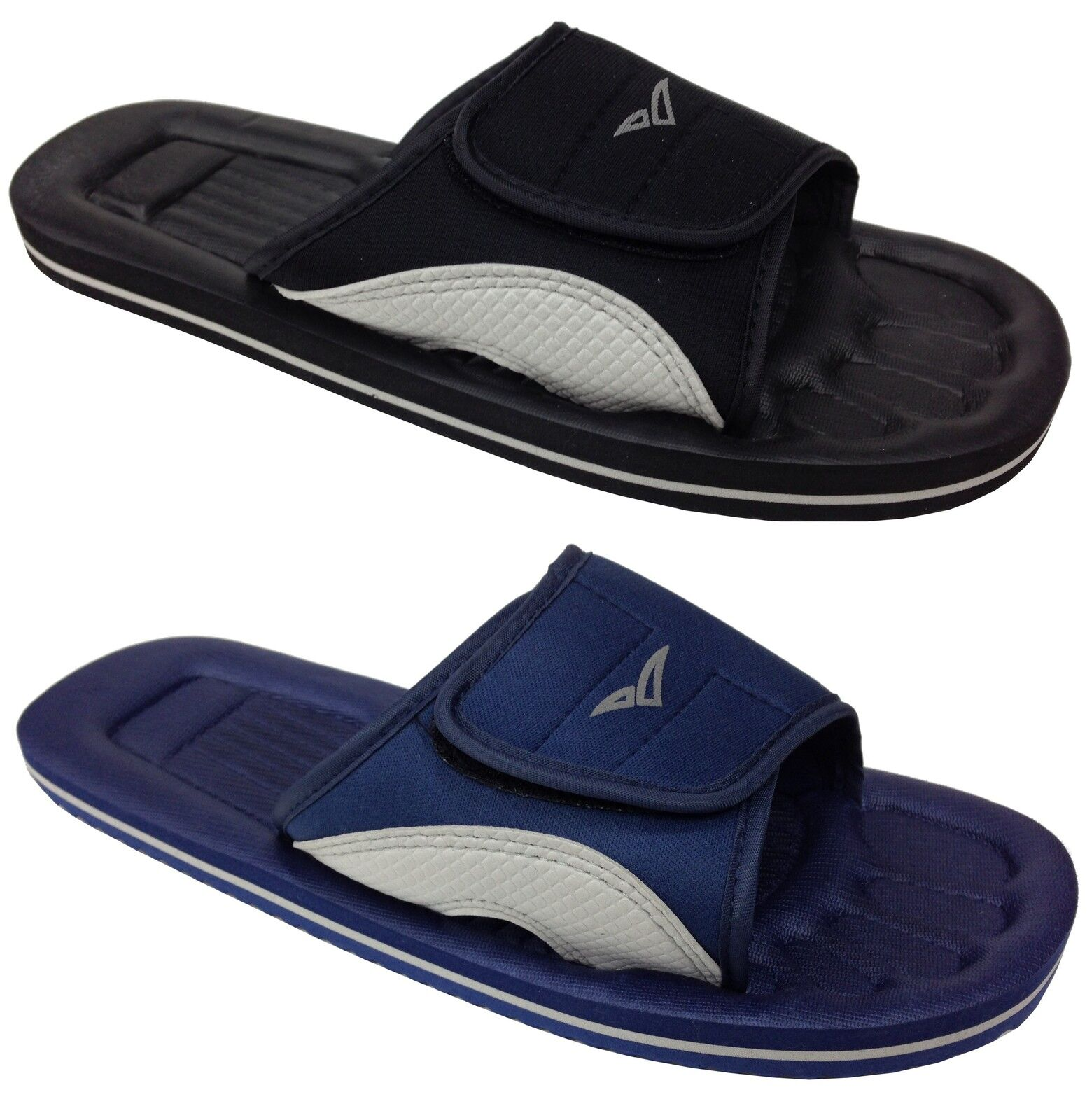 New Touch Unisex Shower Mules Black Navy Blue Touch New Casual Comfy Waterproof Everyday bf7ab3