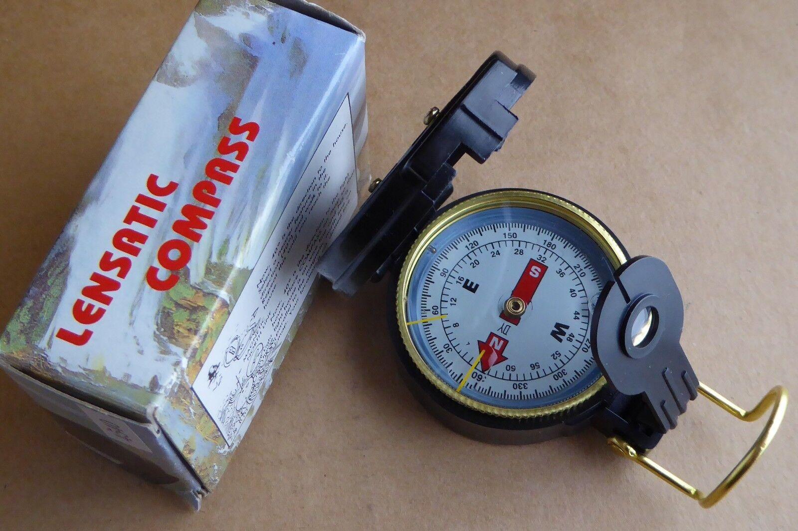 Engineer Engineer Engineer Directional Compass avec boite, excellent état, Lensatic. 1e7dbc