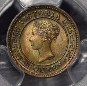 Ceylon-1901-1-4-Cent-PCGS-MS64BN-incandescent-green-toning-PC0814-combine-shippi