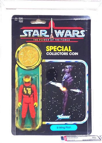 Star Wars Kenner poder de la fuerza 92 B-wing Pilot trasera autoridad Figura de Acción 80Y