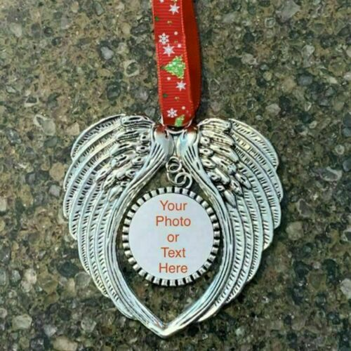 LARGE HANGING FEATHER ANGEL WINGS CHRISTMAS TREE DECORATION XMAS ORNAMENT BAUBLE
