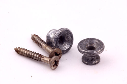 """Screws Set of 2 /""""Art of Aging/"""" Series Gibson Aged Alu Strapbuttons incl"""