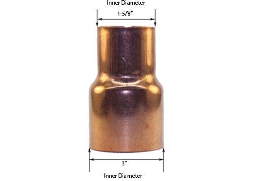 FTG x C Libra Supply 3/'/' x 1-1//2/'/' inch Copper Coupling Bushing Fitting Reducer