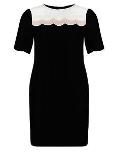 Marks-amp-Spencer-Plus-Size-Black-Panelled-Short-Sleeved-Shift-Dress-Original-Pric
