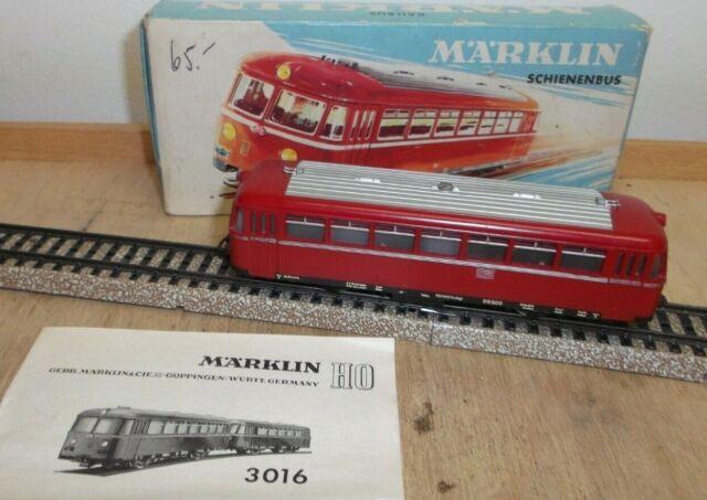 Märklin H0 3016 Autorail DB 800 IN Bon Testé État avec Instructions Emballage