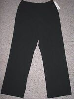 Worthington Essentials Stretch Women's Black Dress Pants 12 Inseam 30.5