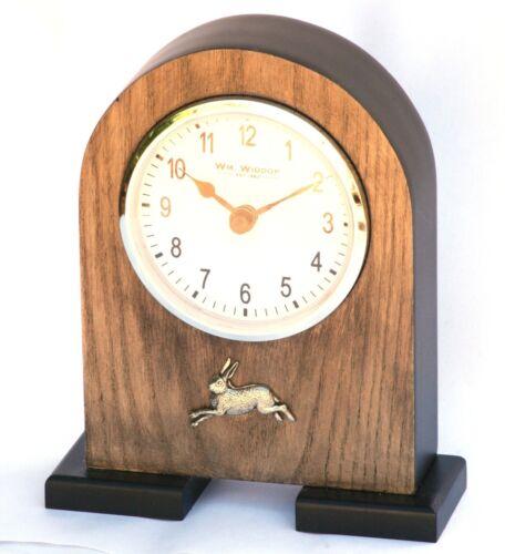 Labrador Head Pewter Emblem Mantel Clock  Ideal Shooting Gift Present