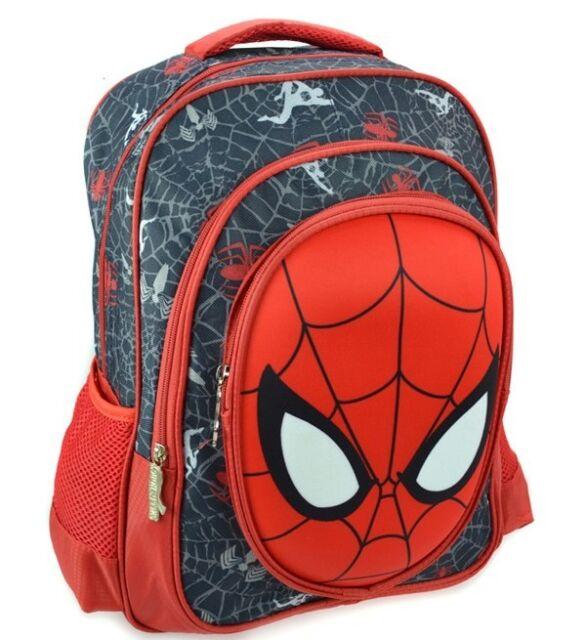 Spiderman Backpack School Bag Bookbag Children Kids Student Boy Girl Black