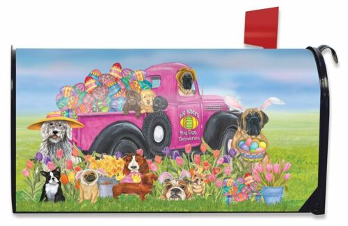 Easter Dogs Holiday Humor Magnetic Mailbox Cover Decorated Eggs Briarwood Lane