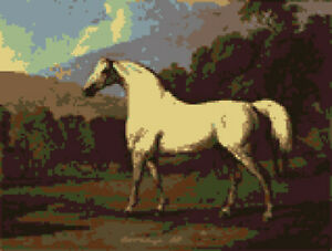 Mambrino-A-horse-by-stubbs-48-034-x-36-034-Rug-beautifully-hand-made-to-order