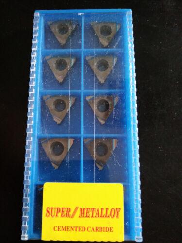 SUPER 10pcs 16ER 1.0ISO SMK01 CNC lathe Threading Turning   Carbide Inserts