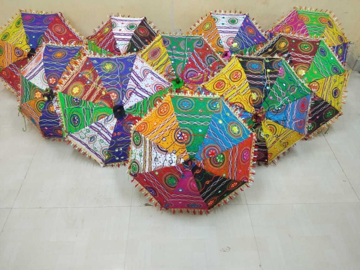 5 PCS Lot Indian Traditional Wedding Decorative Handmade Sun Umbrella Parasols