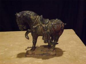 Image Is Loading Vintage Chinese Terracotta Tang Dynasty Prancing Horse Sculpture