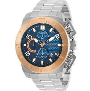 Invicta 30758 Men's Pro Diver Two Tone Case Blue Dial Chronograph Watch