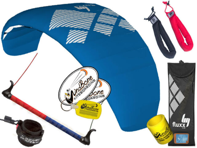 HQ4 Fluxx 2.2 Trainer Power Kite Foil Bar + Safety Leash + Padded Wrist Straps