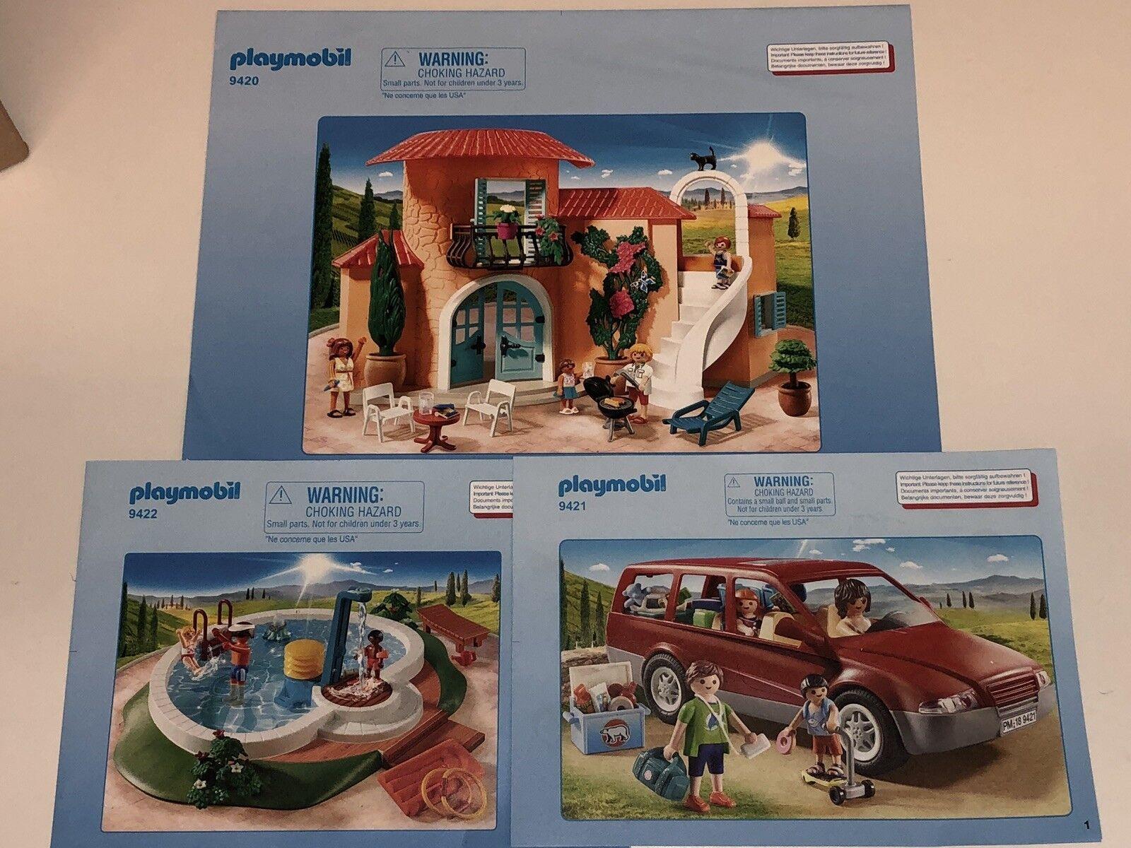 Playmobil Sonnige Ferienvilla 9420 9421 9422 9423