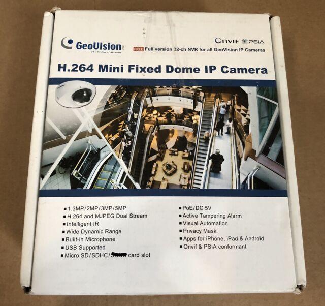 GEOVISION GV-MFD2501-5F IP Network Mini-Dome Camera HD 1080p 2 Megapixel  PoE WDR