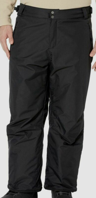 Lovely $299 Columbia Mens Black Waterproof Insulated Omni-tech Breathable Logo Pants 1x