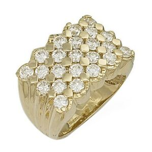 9ct-Gold-CZ-Set-Keeper-Ring-Size-Z-18-5-Grams-UK-Jewellers