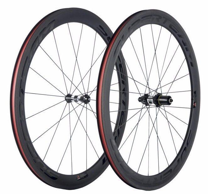 Superteam Carbon 50mm Wheel Road  Bike 700c Clincher DT Swiss Hub Internal Spoke  classic fashion