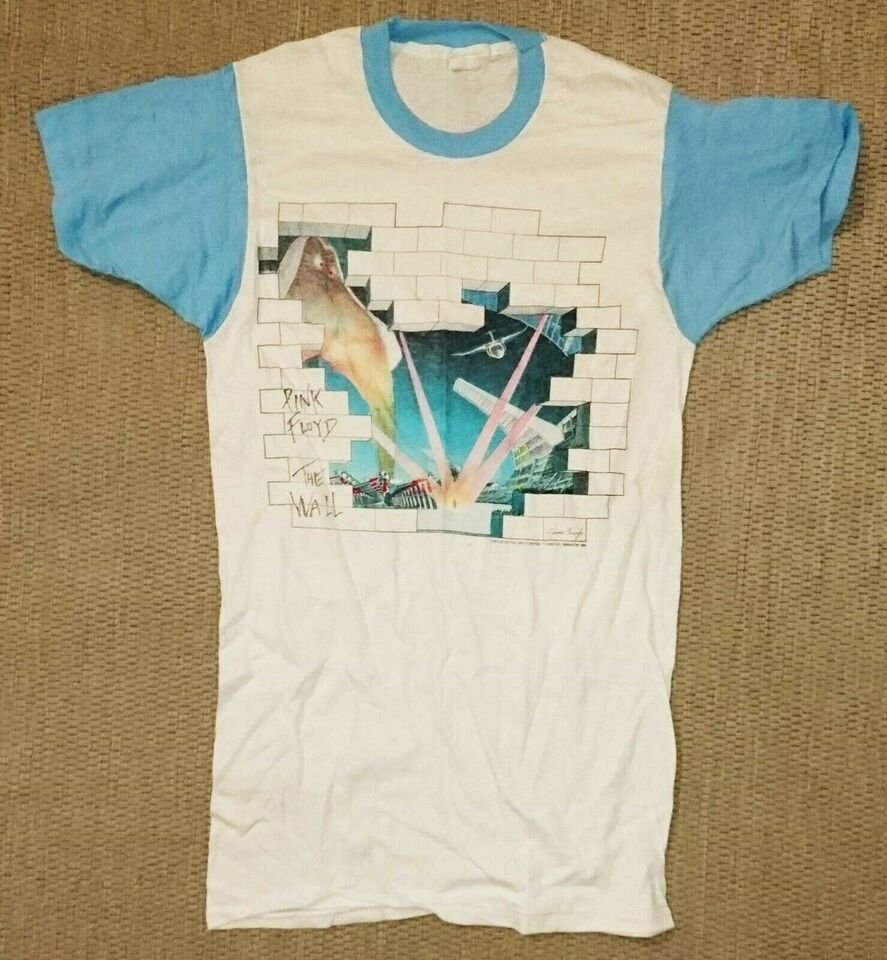 Pink Floyd The Wall Tour Originale T-shirts, 3 stk: Pink