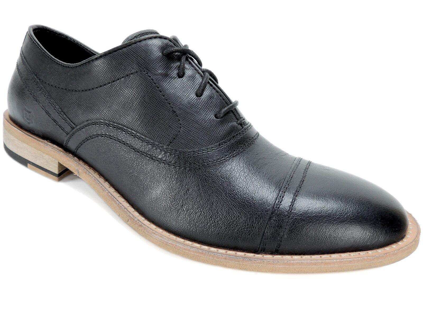 Andrew Marc Men's Henry Casual Oxfords Espresso Black Leather Size 8.5 D