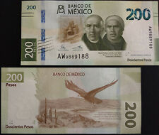 MEXICO + NEW 2019 $200 paper BANKNOTE Eagle, cactii in desert image, mint crisp