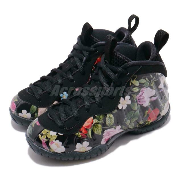 the best attitude 6ef1e 769ae Nike Little Posite One PRM PS Foamposite Black/aurora Green Size 10c