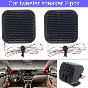 1 Pair 500W 12V Car Square Audio Music Stereo Tweeter 91DB Sound Speaker System