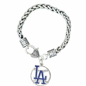 Image Is Loading La Dodgers Charm Bracelet Jewelry Los