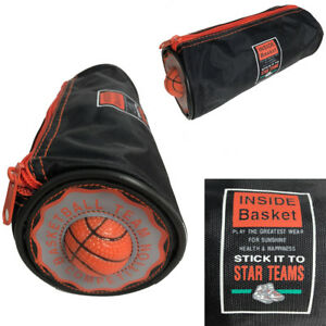 Pencil Case Bag Kids Basketball Fun Pen Pouch Stationery School College Boy Gift