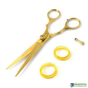Details Zu Friseurbedarf Scheren Friseur Haarschere Friseur Gold Haare Schneiden Schere Neu