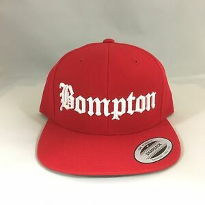 3bac35d6344 Image is loading Bompton-Classic-Snapback-Hat-3D-Embroidered-Adjustable-Cap-