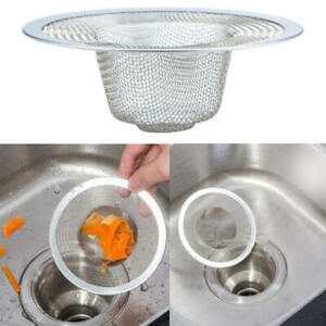 Stainless-Mesh-Sink-Strainer-Drain-Stopper-Kitchen-Filter-Bath-Hair-Trap-vbn