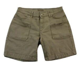Bit & Bridle Womens Shorts Sz 12 Large Tan Beige Cotton Spandex Blend Stretch