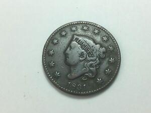 1831-Coronet-Head-Large-Cent-Matron-Head-Large-Letters-N-12
