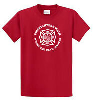Firefighters Printed Tee Shirts Regular And Big And Tall Size Port & Company