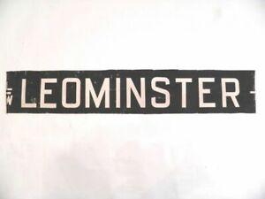 Vintage-screen-printed-linen-Ludlow-destination-bus-blind-Leominster