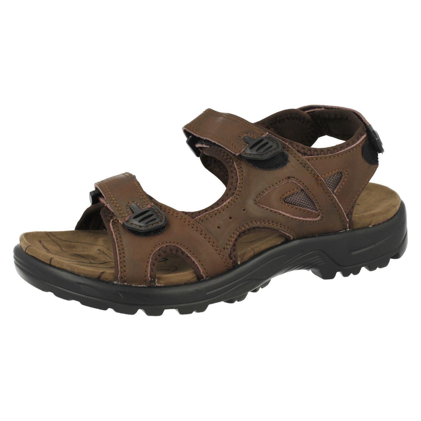 Uomo Northwest Arabo Sandali pelle Marrone Casual Sandali Arabo con Cinturino 66e083