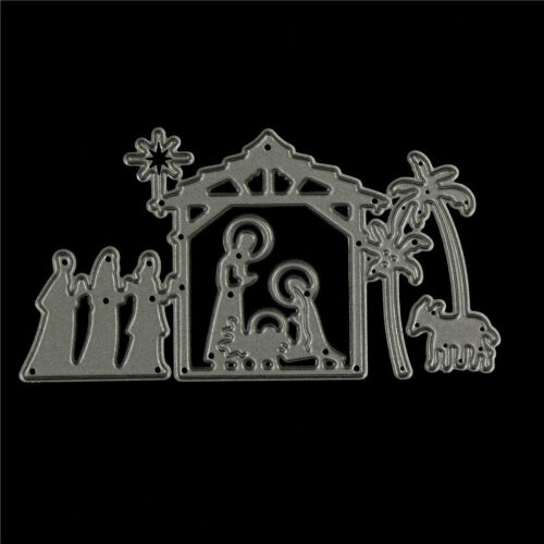 Happy Jesus/'s birth Metal Cutting Dies Stencils For DIY Scrapbooking CardYRDE