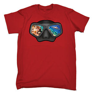 Ocean View Goggles Open Water MENS T-SHIRT birthday gift funny scuba diving