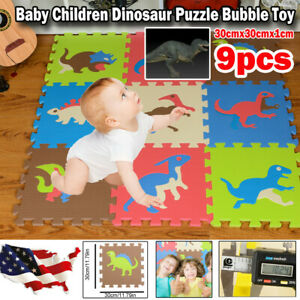 9pcs Thicken Floor Mat Exercise Mat Solid Foam EVA Play Mat Kids Puzzle Play Toy