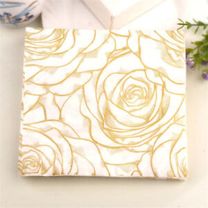 20x-golden-rose-flower-paper-napkins-serviette-tissue-party-supply-home-decor-X