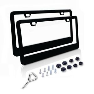 Details About Stainless Steel License Plate Frame Front And Back Frames Fasteners Include