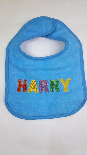 Named Baby bib Choose your naming from the drop-down list